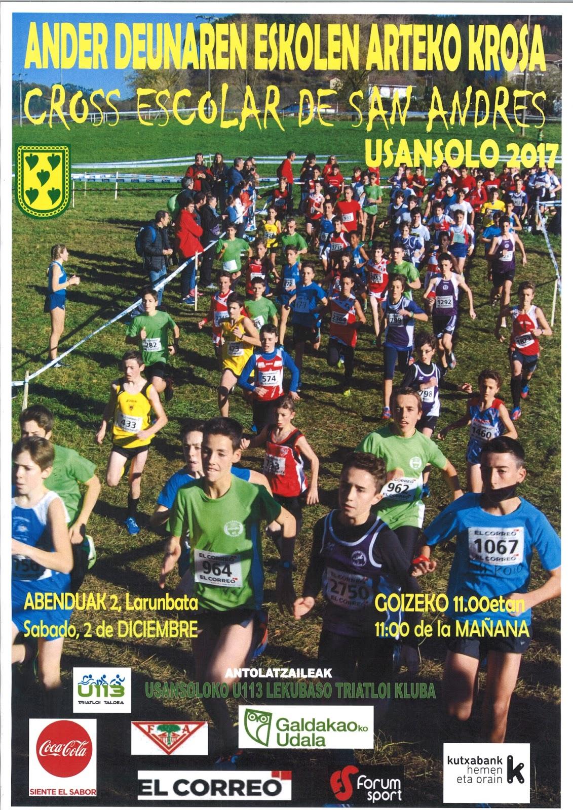 2017 12 02 Cross escolar Usansolo cartel